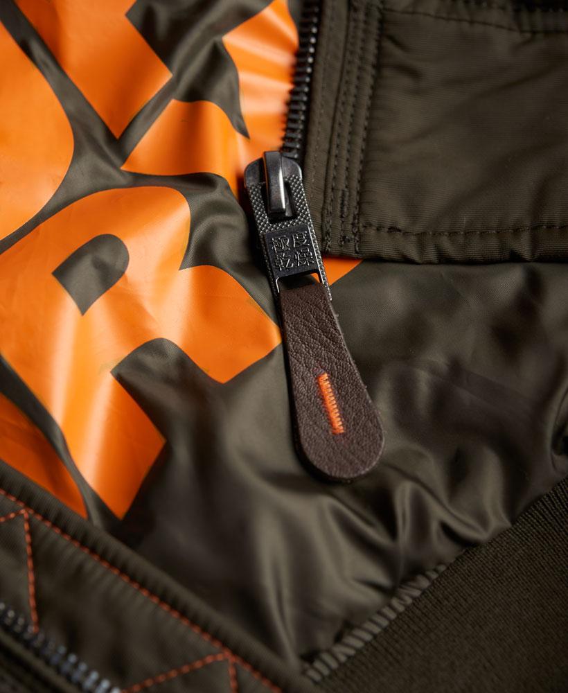 [男款]英國名品代購 極度乾燥 Superdry RSD Lite Pilot MA-1男士防水防風飛行外套夾克風衣 深卡其 4