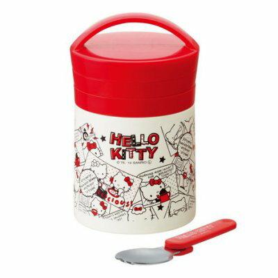 【安琪兒】Hello Kitty不鏽鋼保溫保冷湯罐附折疊叉 - 限時優惠好康折扣