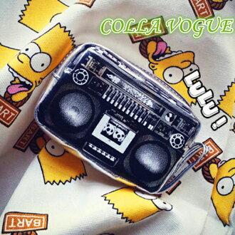 ✻蔻拉時尚✻ [MYS36002] COLLA_歐美潮流雜誌 熱銷款 復古視覺立體收音機 手拿包/多功能包/錢包