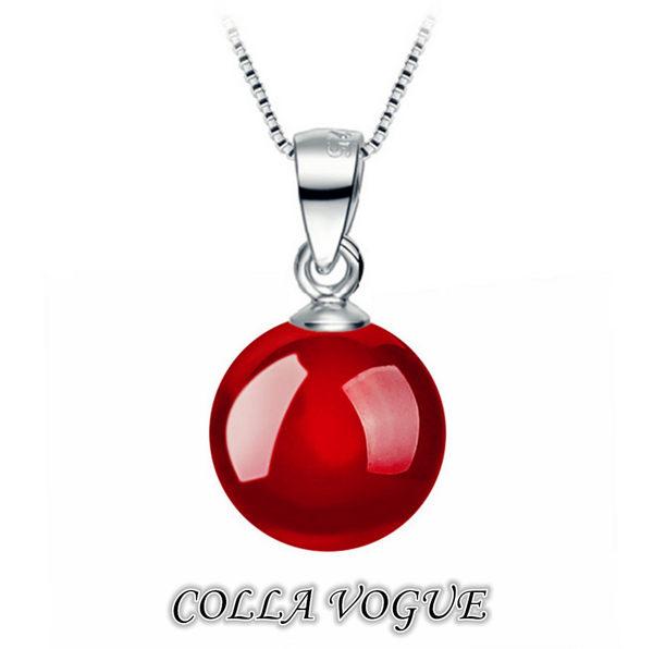 ✻蔻拉時尚✻ [QED259] 925銀飾__高雅瑪瑙銀質項鍊 (紅/黑瑪瑙兩款) 抗過敏/時尚高端