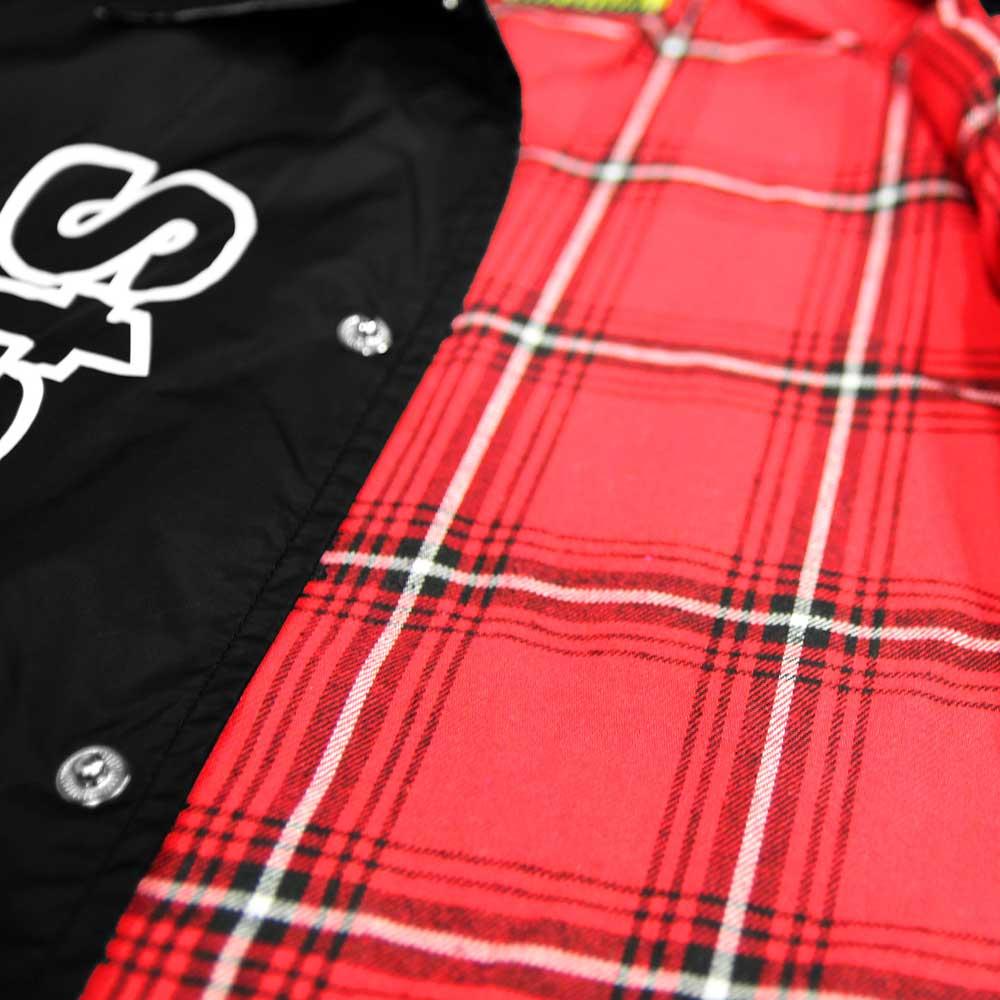 STAGE CREW COACH JACKET 黑色 / 紅色 6