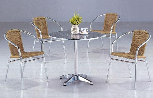 【 IS空間美學 】鋁製休閒圓桌