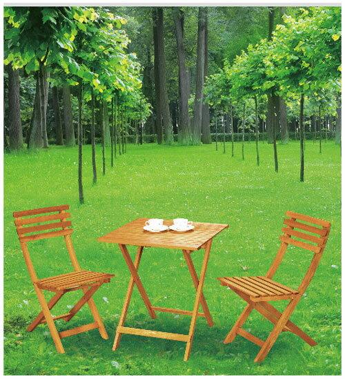 【 IS空間美學 】樂活實木休閒折桌