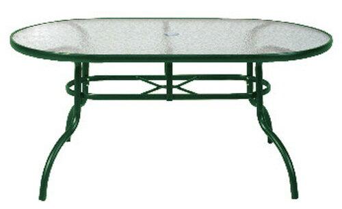【 IS空間美學 】半鋁玻璃橢圓桌