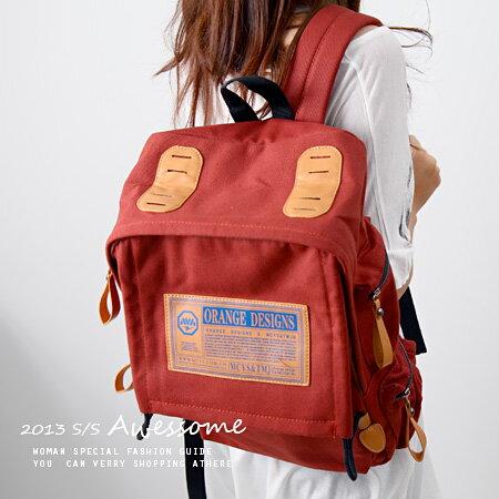 LINAGI里奈子精品【K311-9499】韓KOREA 超實用超大內附2個內袋外附4個口袋雙肩後背帆布包