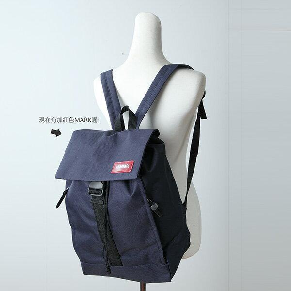 LINAGI 里奈子精品【H383-62-54】休閒時尚實用內束口袋外卡榫兩邊側拉鍊袋帆布後背包