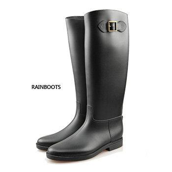 日百搭高筒防水雨靴