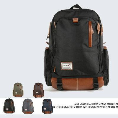 LINAGI里奈子精品【K1077-1918】韓國品牌代購 簡約多袋多層設計可放A4筆電夾層大容量後背包