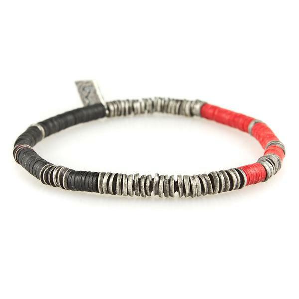 【現貨商品】【M.Cohen】非洲風紅色串珠彈性手環 (MC-B-10751-OXI-RED 0839670201) 0