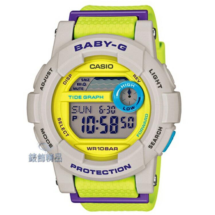 ~錶飾 ~ CASIO卡西歐Baby~G犀牛灰撞色眼紫潮汐淑女腕錶 BGD~180~3DR