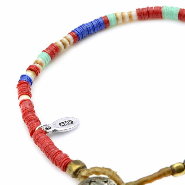 【海外訂購】【amp japan】非洲盤珠紅色蠟繩手環(AMP-14AHK-425RD  0756930000) 2