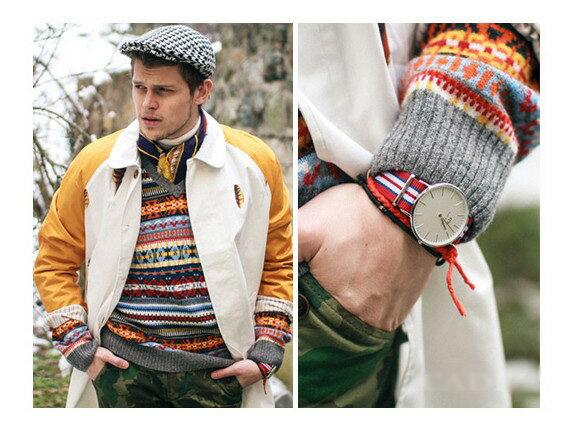 瑞典正品代購 Daniel Wellington 0212DW 銀 尼龍 帆布錶帶 男錶 手錶腕錶 40MM 1
