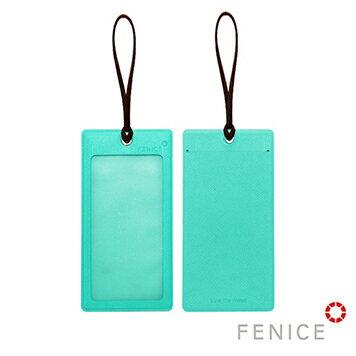 NEW!!【FENICE】透明視窗行李吊牌(蒂芬妮綠+深棕) - 旅行用品 旅行的好夥伴