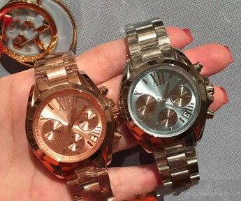 美國Outlet 正品代購 Michael Kors MK 簡約淺藍三環計時手錶腕錶 MK6098 6