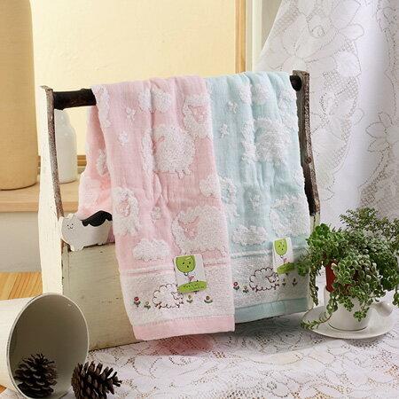 【taoru】喜羊羊 - 日本毛巾 60x120 cm (浴巾) - 除了軟還是軟的觸感,就好像真的在摸羊咩咩一樣!咩~