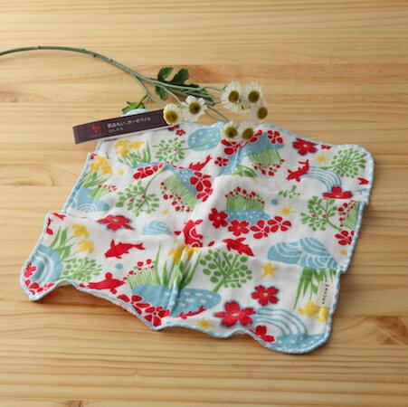 【taoru】肌想|庭院深深 - 日本毛巾 24x24cm (仕女手巾、紗布毛巾) –庭院幽深,挽留了整個夏天的繽紛氣息。
