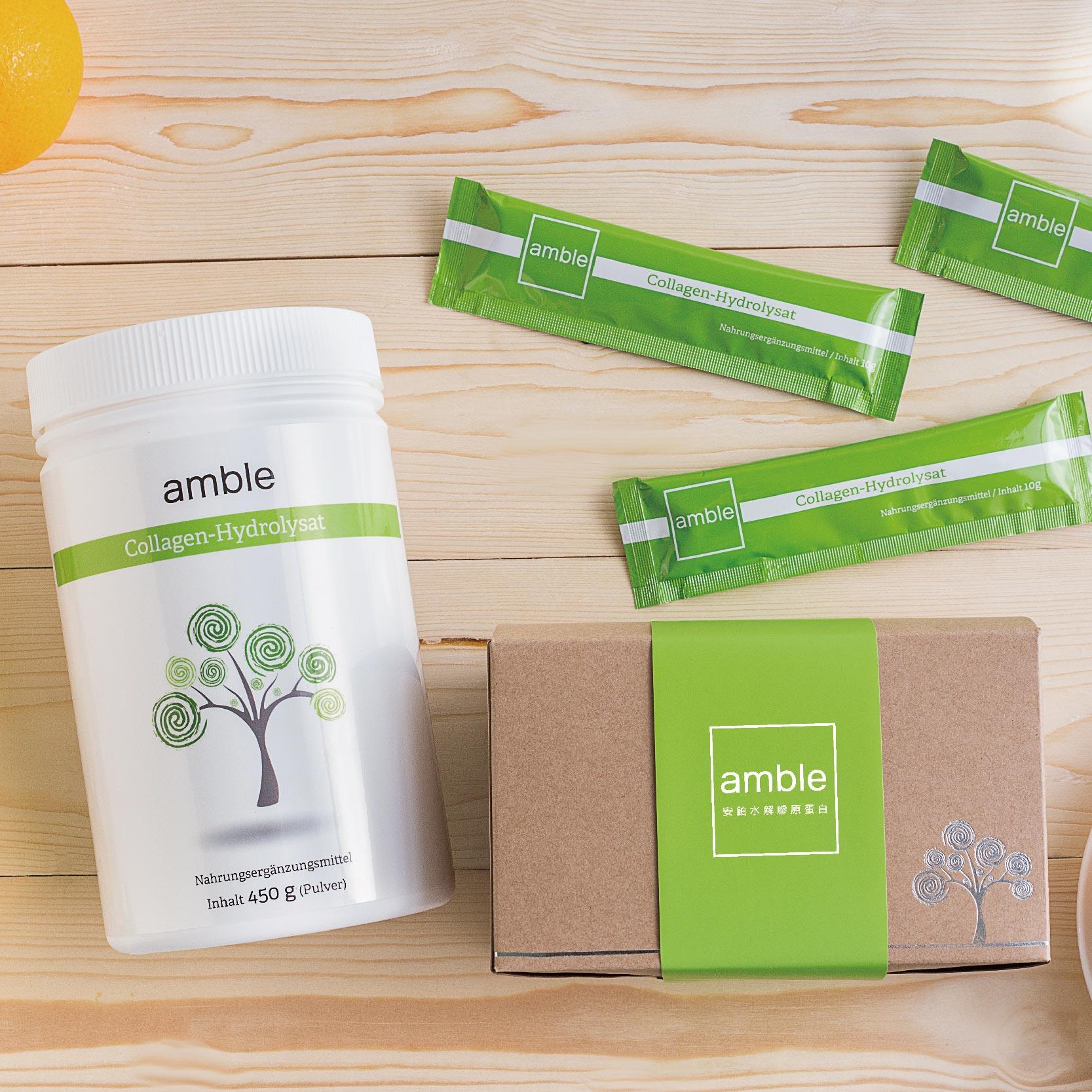 《現省100元》安鉑水解膠原蛋白粉.大白一瓶+小綠隨身包一盒 0