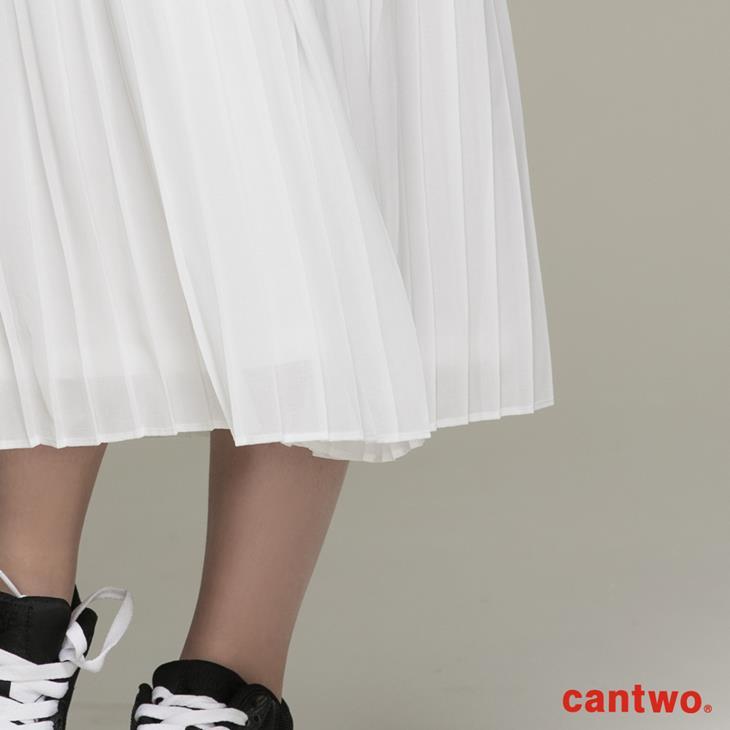 cantwo雪紡細褶長裙(共二色) 4