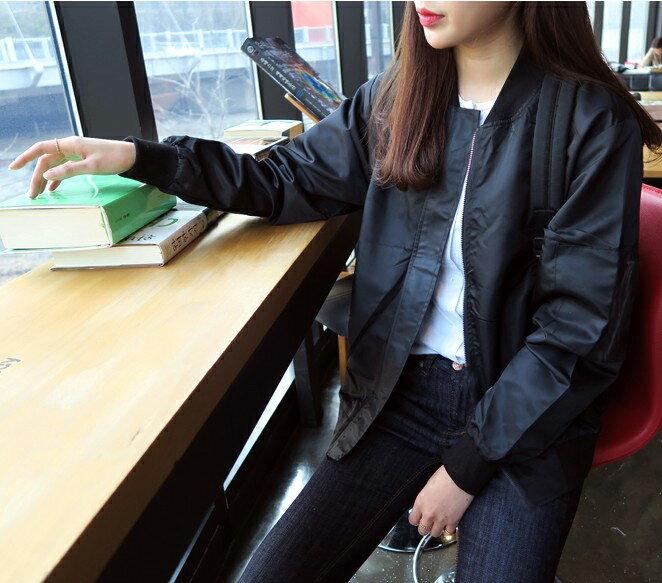 外套 - 手臂拉鍊設計羅紋下擺棒球外套【29185】藍色巴黎《2色》現貨 + 預購 1