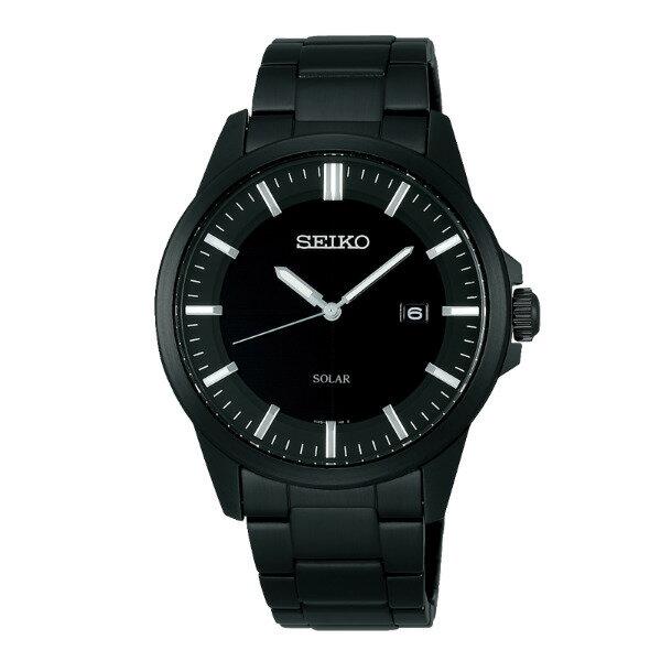 Seiko Spirit V147-0AV0SD(SBPN093J)休閒簡約太陽能腕錶/黑面39mm