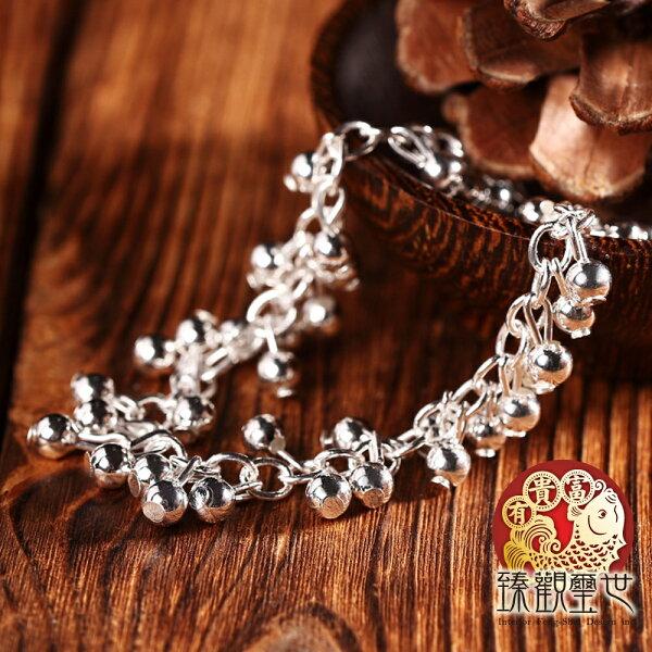 【限時5折 滿額折百】純銀手鍊 纍纍收穫 玲瓏轉運珠手鍊 含開光 臻觀璽世 IS3470