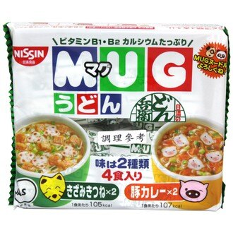 NISSIN 日清 MUG 馬克杯麵綠袋(油豆腐&咖哩) 94g