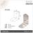 【 EASYCAN  】D15 不鏽鋼 角碼 1包10片 易利裝生活五金 角鐵 轉角片 補強 房間 臥房 客廳 餐廳 櫥櫃 衣櫃 小資族 辦公家具 系統家具 1