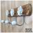 【 EASYCAN  】659-1 茶花陶瓷掛勾 易利裝生活五金 客廳 餐廳 房間 臥房 衣櫃 小資族 辦公家具 系統家具 0