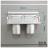 【 EASYCAN  】C102 30cm雙杯架 易利裝生活五金 鋁合金 廚房 餐廳 房間 浴室 小資族 辦公家具 系統家具 2