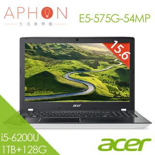 【Aphon生活美學館】ACER E5-575G-54MP 15.6吋 Win10 2G獨顯 筆電(i5-6200U/4G/1T+128G SSD)-送4G記憶體(需自行安裝)