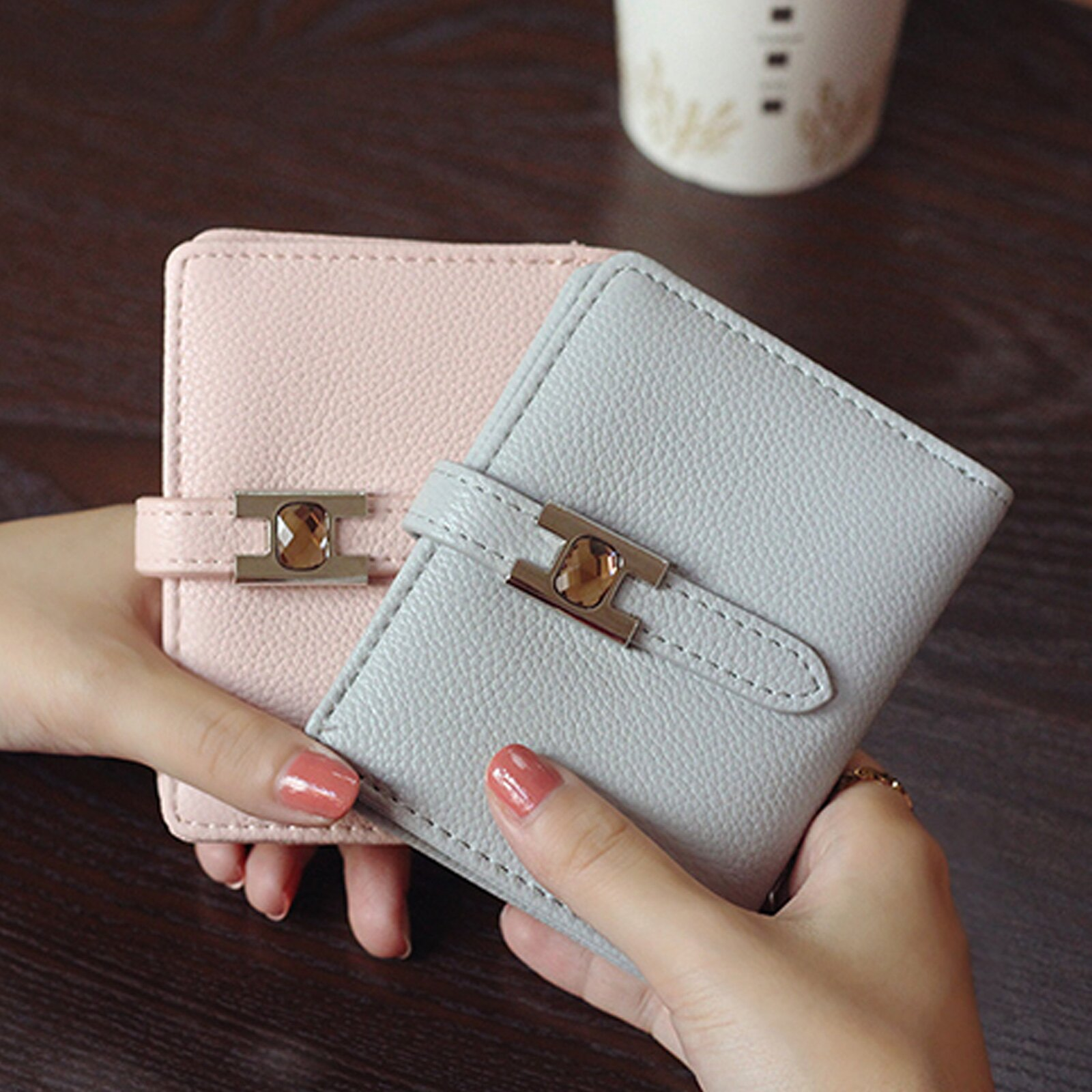 皮夾 錢包 超薄扣式短款錢包短夾【O3219】☆雙兒網☆ 1