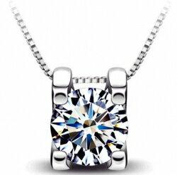 [璀璨之星]奢華八心八箭一克拉視覺感瑞士鑽石吊飾
