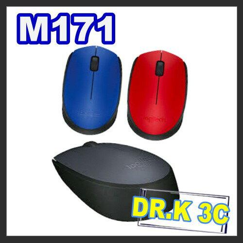 羅技 Logitech M171 USB隨插即用 Logitech 羅技 M171 無線滑鼠 三色