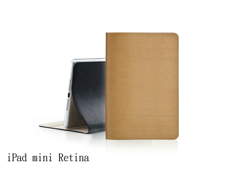 EVOUNI L37 弧_美型超薄皮套_iPad mini Retina3代_原皮色