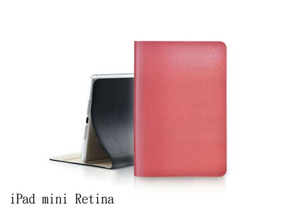 EVOUNI L37 弧_美型超薄皮套_iPad mini Retina3代_桃紅