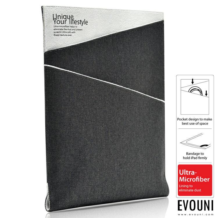 EVOUNI-K17-GY 型 斜紋丹寧護套 iPad Aie 灰