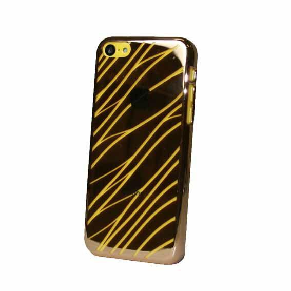 EVOUNI S29-1GD-鏡 波紋電鍍殼 iPhone5C 金色