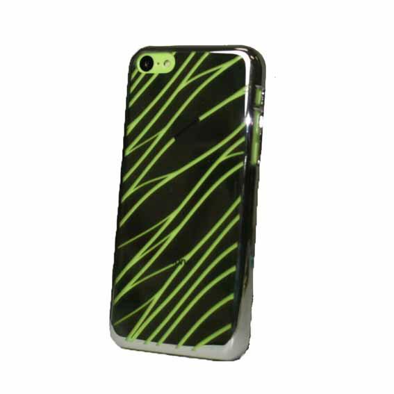 EVOUNI S29-4BK-鏡 波紋電鍍殼 iPhone5C 黑色