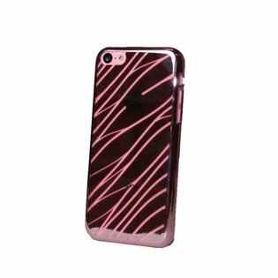 EVOUNI S29-2RD-鏡 波紋電鍍殼 iPhone5C 紅色