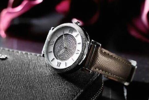 美國Outlet 正品代購 MichaelKors MK 銀鑲鑽 深咖色皮帶三環計時手錶腕錶 MK2377 6