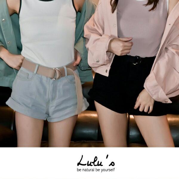 LULUS-P拷克褲管牛仔短褲S-L-3色  現+預【04020382】