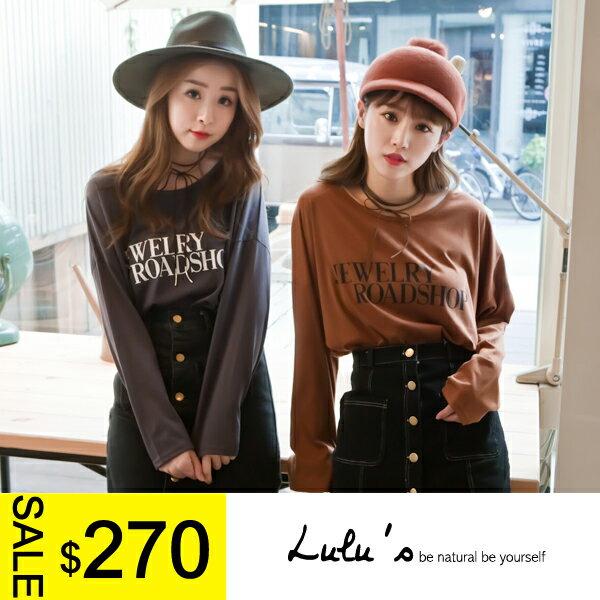 LULUS-F韓製-後一字帶JE字母T恤-2色  現+預【01015923】