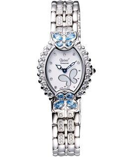 愛其華Ogival(380-05DLW)藍蝶飛真鑽奢華腕錶/24*30mm
