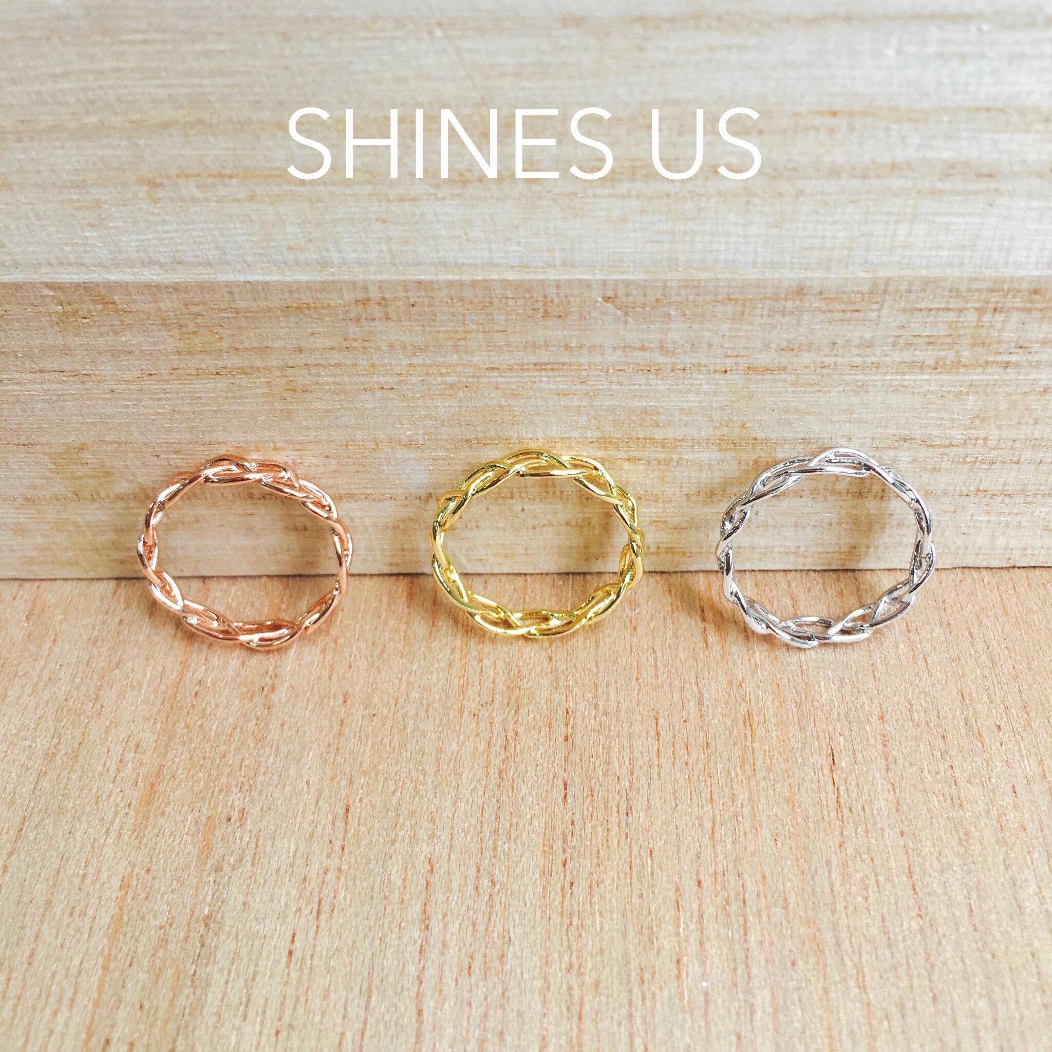 ~SHINES US~正韓 鏤空辮子戒指 戒指 ~  好康折扣