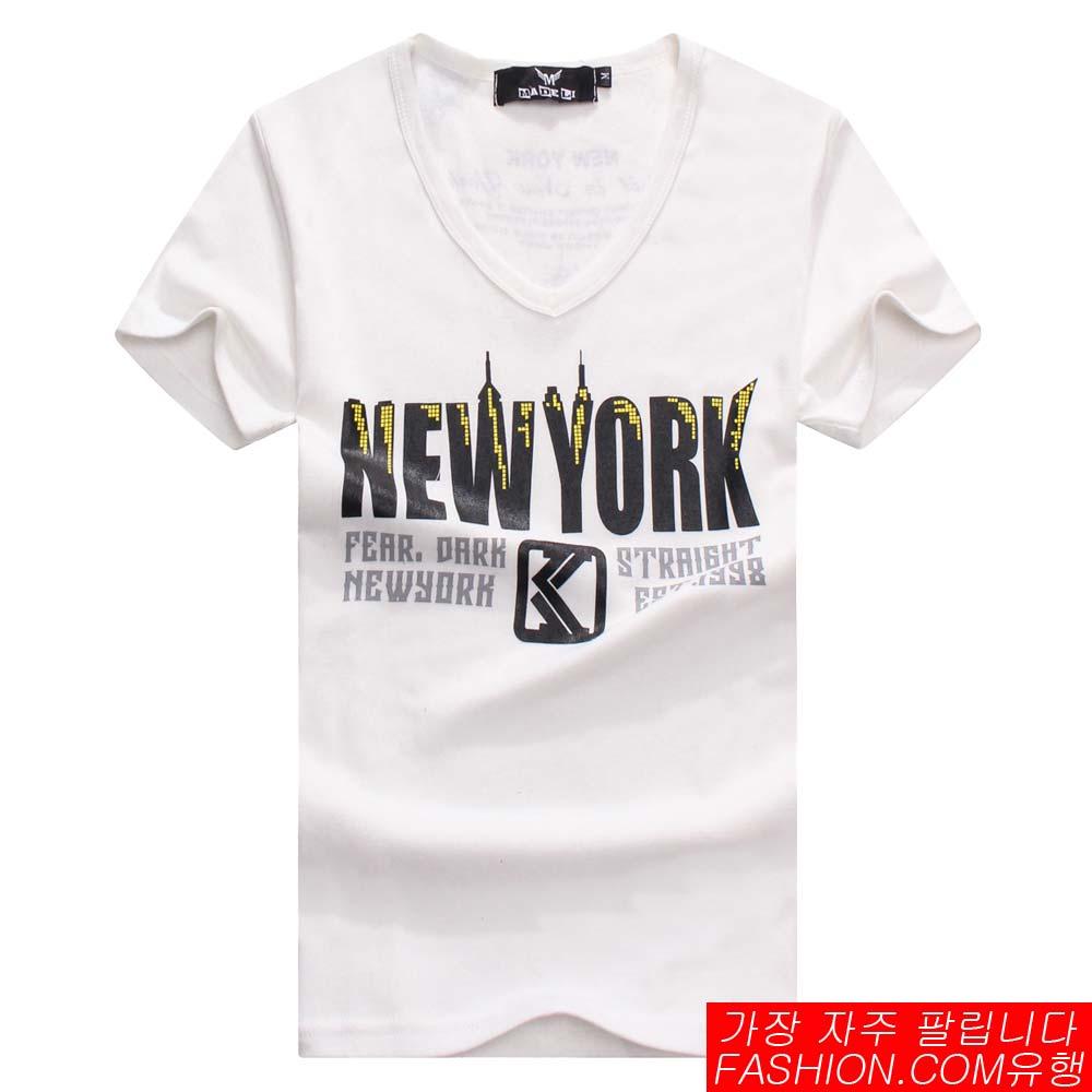 DITION SHOP NEW YORK城市麻花短T 韓系情侶 0