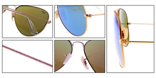 Ray Ban 雷朋 水銀鍍膜金邊藍鏡 太陽眼鏡 RB3025 8