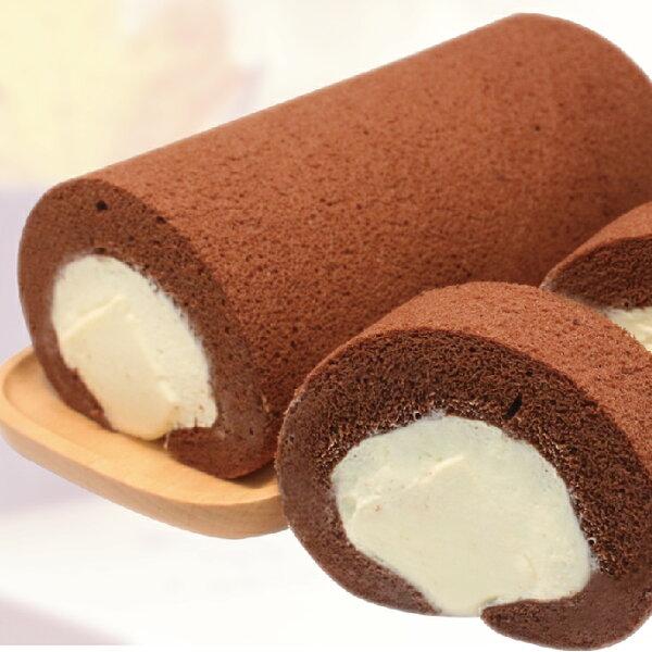 【麵包空間】巧克力奶凍捲 (19CM 大份量 適合3-4人享用)