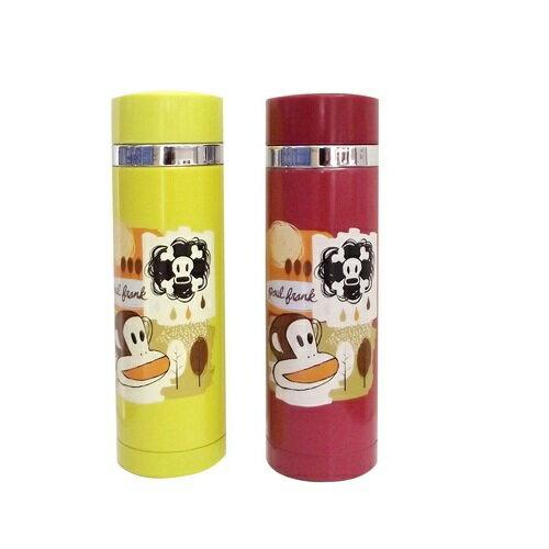 《省您錢購物網》全新~paul frank不鏽鋼真空保溫瓶300M(紫紅/亮黃)