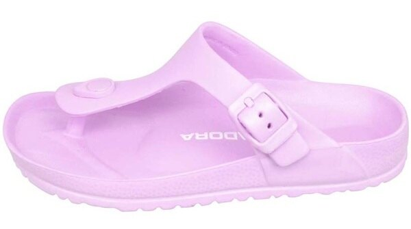 【巷子屋】義大利國寶鞋-DIADORA迪亞多納 女款漾彩時尚勃肯超輕T字拖鞋 [3527] 紫 超值價$198