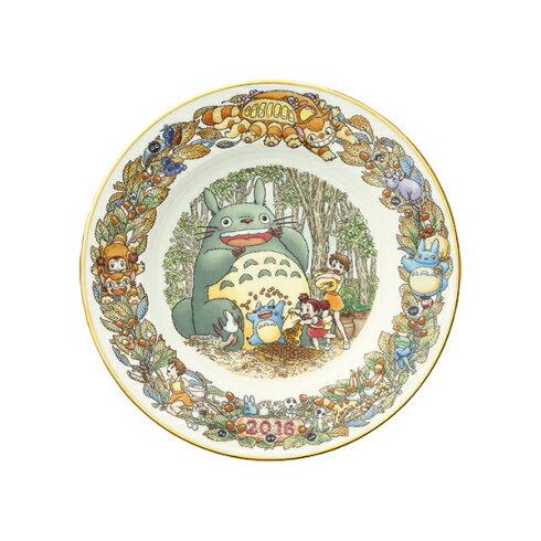 【真愛日本】15111300039 限定收藏紀念盤-2016 龍貓 TOTORO 豆豆龍 紀念盤 盤子 收藏 擺飾